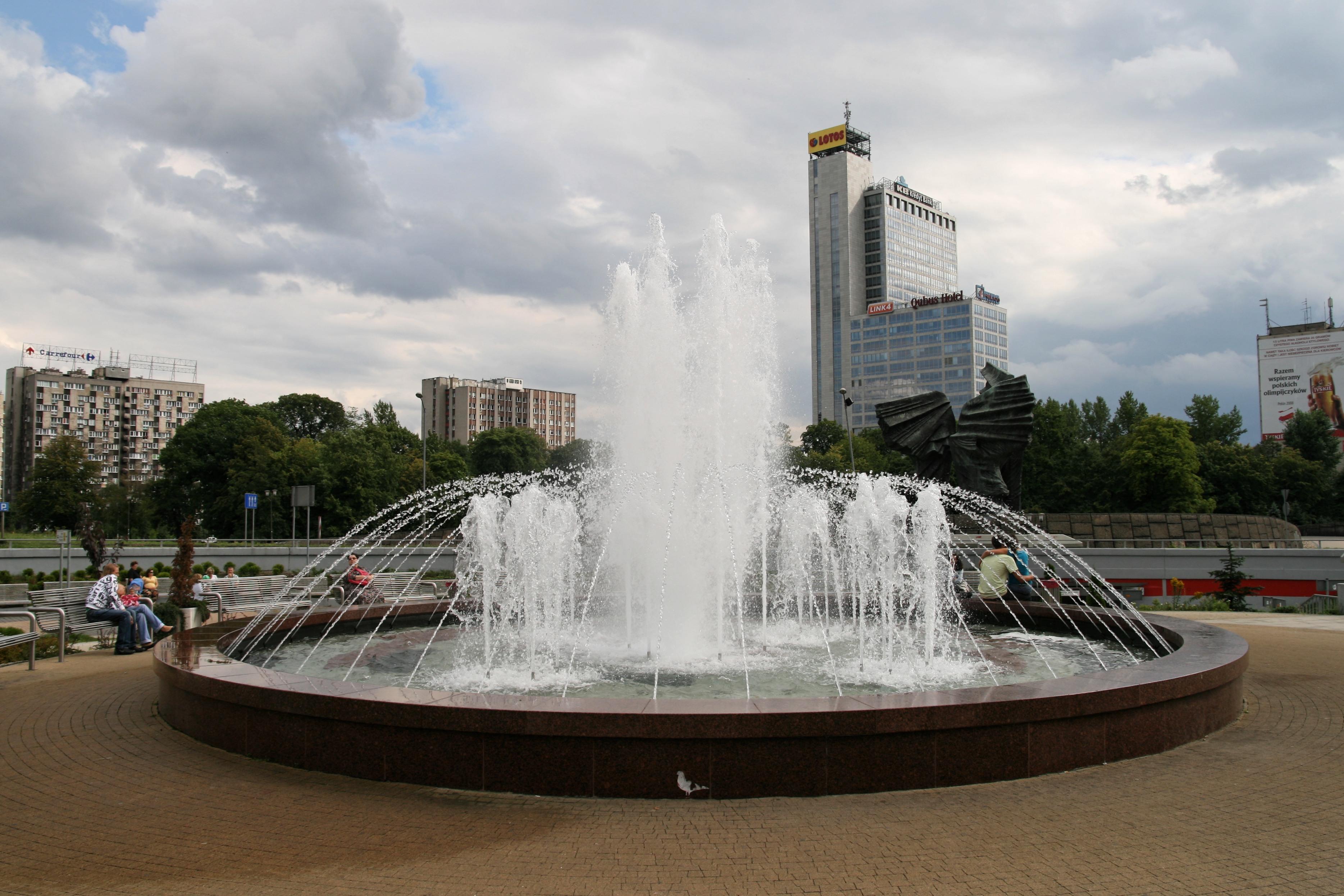 Katowice_-_Rondo_-_Fontanna_01